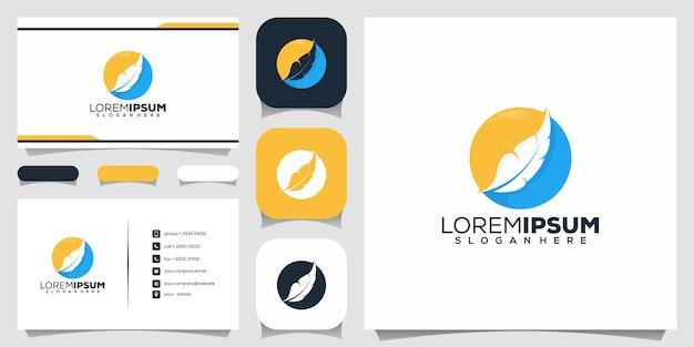 Diseño de logotipo de pluma