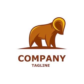 Diseño de logotipo premium de cabra