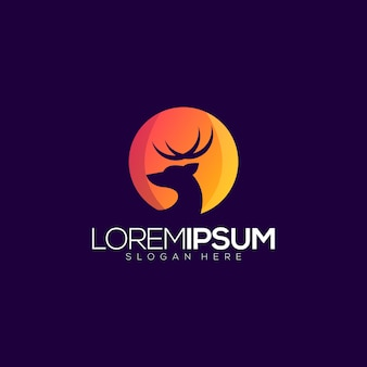 Diseño de logotipo premium deer
