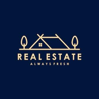 Diseño de logotipo premium inmobiliario