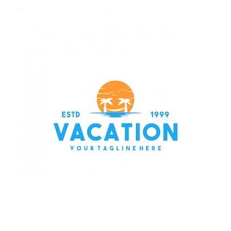Diseño de logotipo premium de vacaciones creativas
