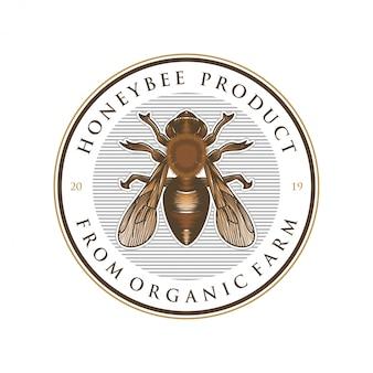 Diseño de logotipo para productos de miel o granjas de abejas