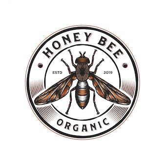 Diseño de logotipo para productos de miel o granjas de abejas.