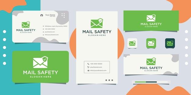 Diseño de logotipo de protección de cartas y tarjetas de visita.