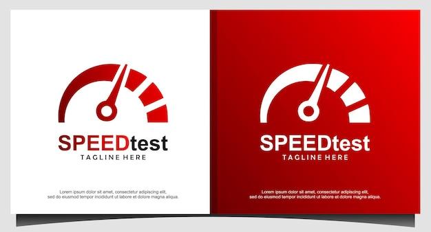 Diseño de logotipo de prueba de velocidad