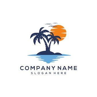 Diseño del logotipo de la puesta del sol