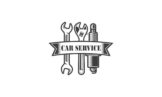 Diseño de logotipo de reparación de ingeniería de servicios mecánicos
