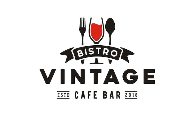 Diseño de logotipo de restaurante vintage