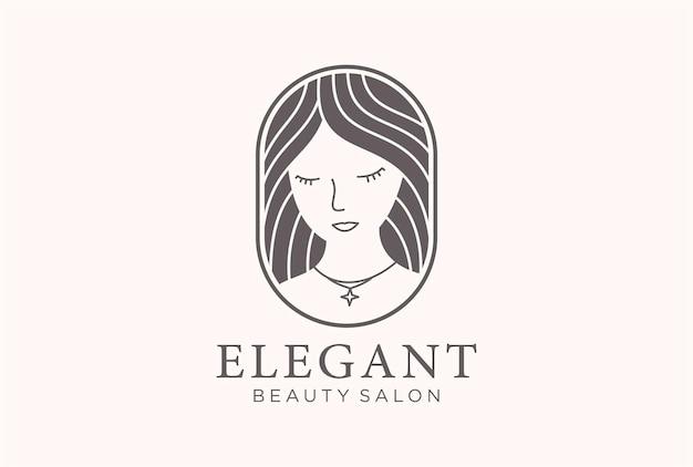 Diseño de logotipo de salón de belleza elegante.