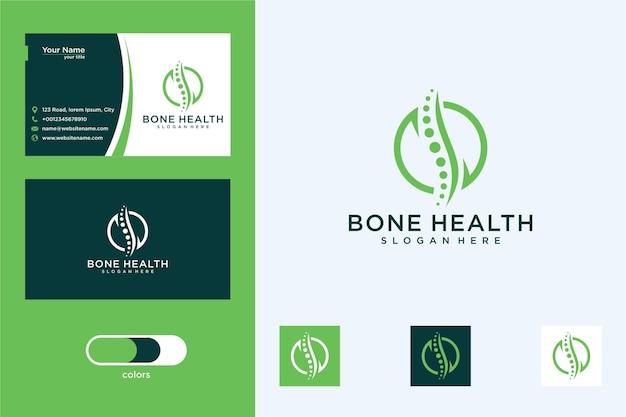 Diseño de logotipo de salud ósea y tarjeta de visita