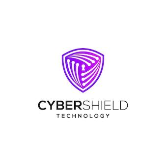 Diseño de logotipo de seguridad cibernética