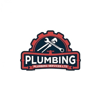 Diseño de logotipo de servicio de plomería - logotipo moderno - servicio de plomería industrial a domicilio con elemento de llave