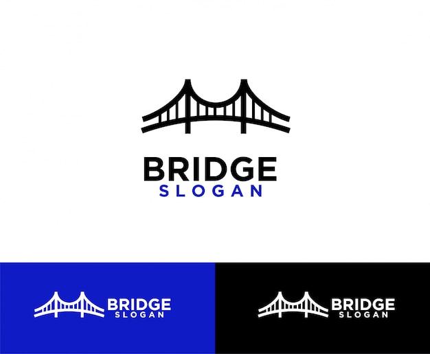 Diseño de logotipo de símbolo abstracto de puente