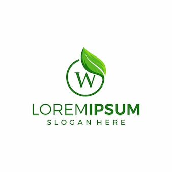 Diseño de logotipo de símbolo de hoja minimalista