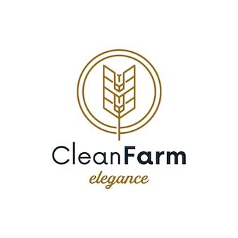 Diseño de logotipo simple círculo de trigo