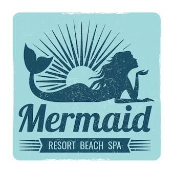 Diseño de logotipo de sirena