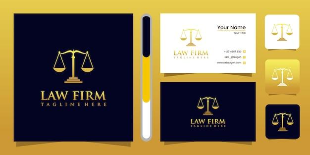 Diseño de logotipo y tarjeta de presentación de bufete de abogados