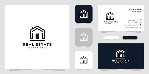 Diseño de logotipo y tarjeta de presentación inmobiliaria