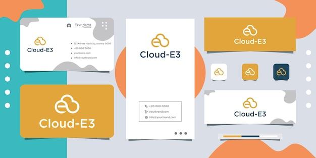 Diseño de logotipo y tarjeta de presentación en la nube