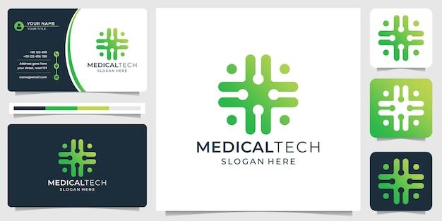 Diseño de logotipo de tecnología médica