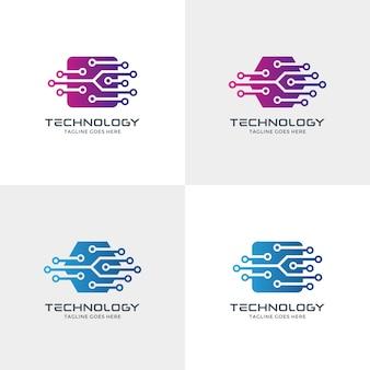 Diseño de logotipo de tecnología