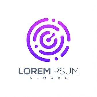 Diseño de logotipo tecnológico listo para usar