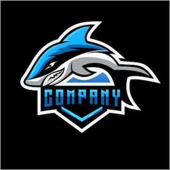 Diseño de logotipo de tiburón