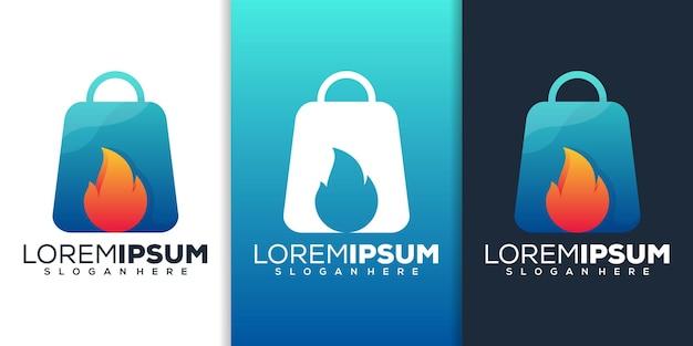 Diseño de logotipo de tienda caliente