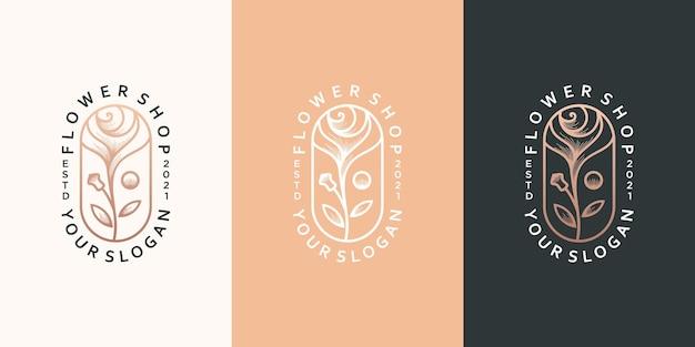 Diseño de logotipo de tienda de flores