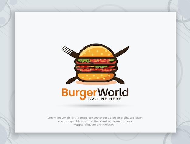 Diseño de logotipo de tienda de hamburguesas