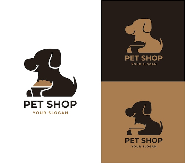 Diseño de logotipo de tienda de mascotas
