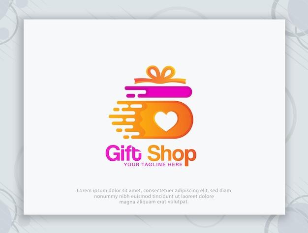 Diseño de logotipo de tienda de regalos