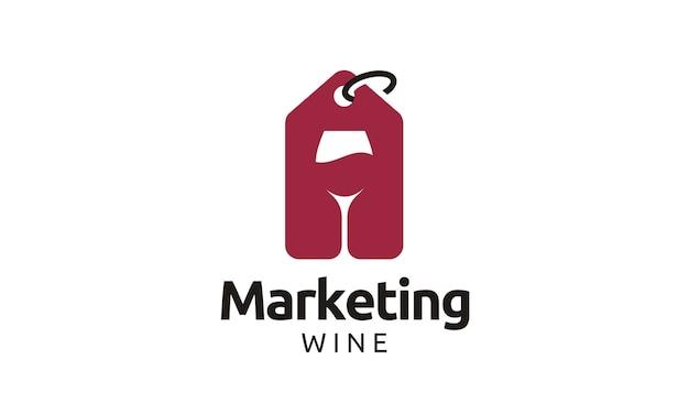 Diseño de logotipo de tienda de vinos