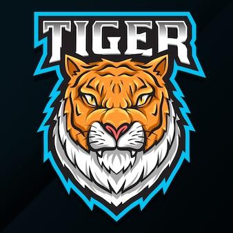 Diseño de logotipo de tigre animal salvaje