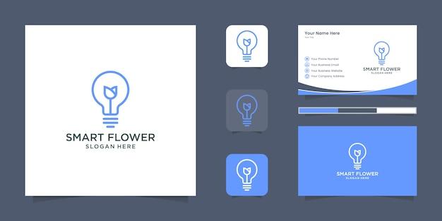 Diseño de logotipo de ubicación de casa inteligente y tarjeta de visita