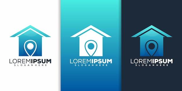 Diseño de logotipo de ubicación de casa