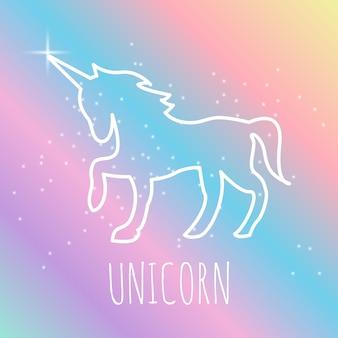 Diseño de logotipo de unicornio