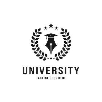 Diseño de logotipo de la universidad de lujo