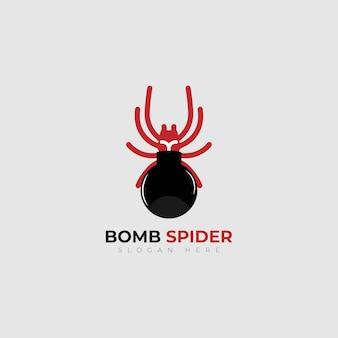 Diseño de logotipo vector bomba araña