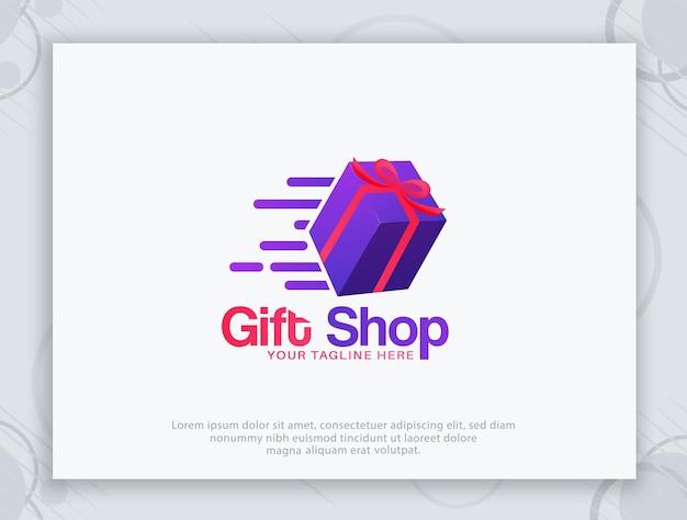 Diseño de logotipo vectorial de tienda de regalos