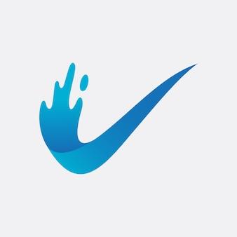 Diseño de logotipo de verificación de agua