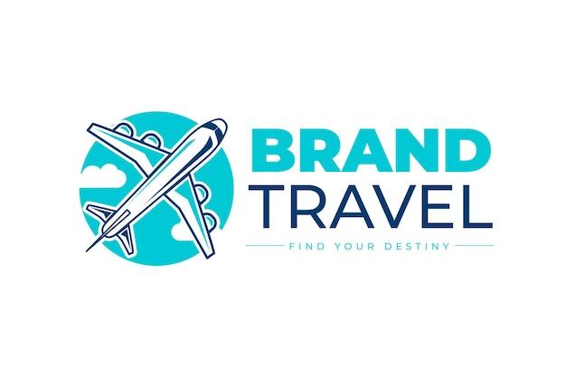 Diseño de logotipo de viaje detallado