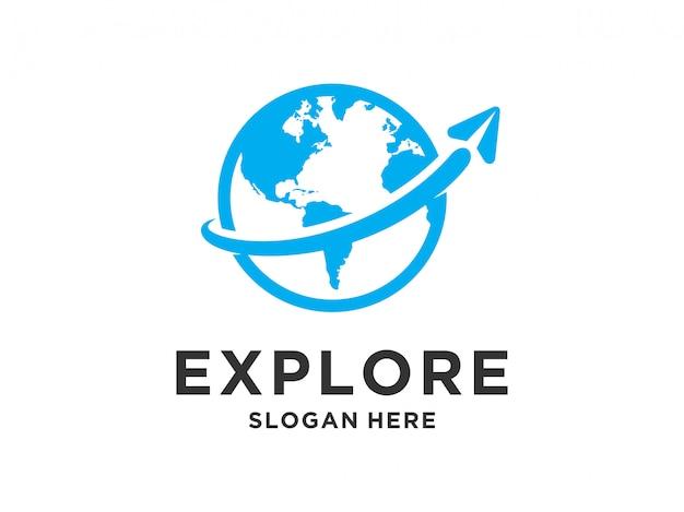 Diseño de logotipo de viaje.