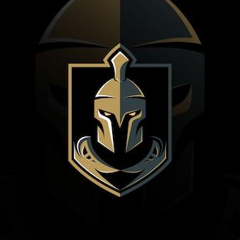 Diseño de logotipo vintage espartano