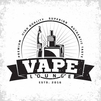 Diseño de logotipo vintage vape lounge