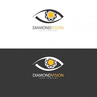 Diseño de logotipo vision, idea conceptual.