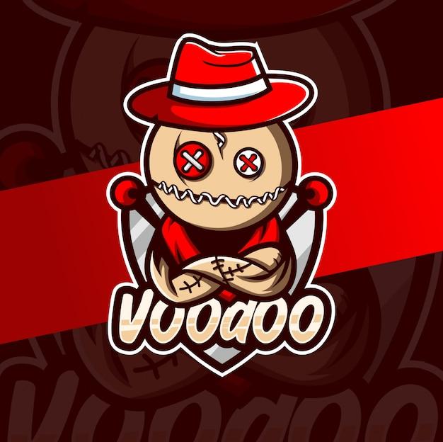 Diseño de logotipo de vudú mascota esport
