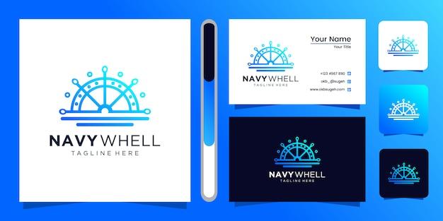 Diseño de logotipo de whell azul marino