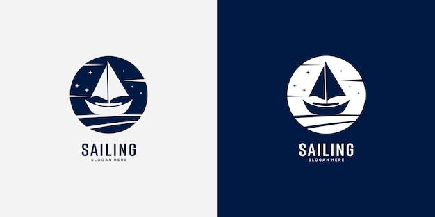 Diseño de logotipo de yate de vela