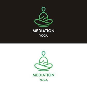 Diseño de logotipo de yoga de meditación